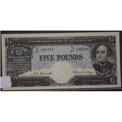 Five Pounds Coombs Wilson, Nearly Unc