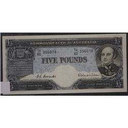 Five Pounds Coombs Wilson, Nearly Unc, Consec Trio