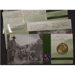 Anzac $1 Coins 1999, S, C, A, M, B ( 2 of Each)