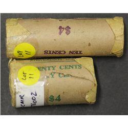 Mint Rolls 1976 10c & 20c Scarce