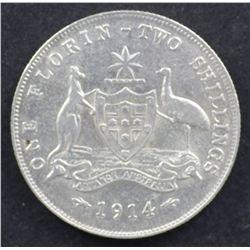 1914 Florin VF
