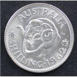 Shillings 1953,1954, 1959,1961,1962,1963 BU