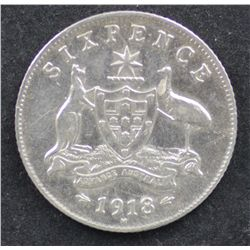 1918 Sixpence, Neary EF, the key date