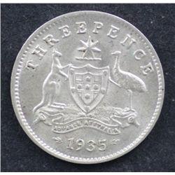 1935 Threepence Uncirculated