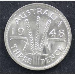 1948 & 1951 PL 3 Pences BU