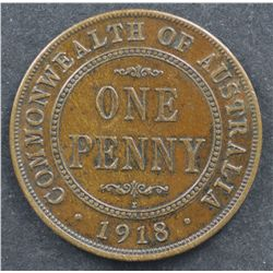 1918 Penny Extremely Fine