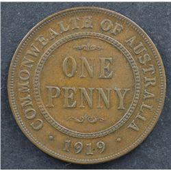 1919 Penny Dot Below EF