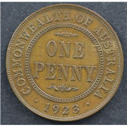 1923 Penny Nearly Uncirculated