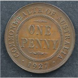 1927 Penny Nearly Uncirculated