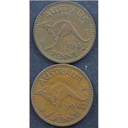1942 Bombay Pennies no I VF (2)