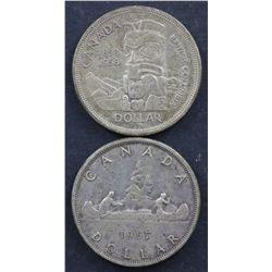 Canada $1 1938 VF, 57 VF, 58 & 66 Uncirculated