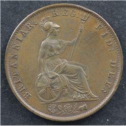 GB 1852 Halfpenny Choice Unc