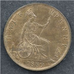 GB 1889 Halfpenny Choice Unc
