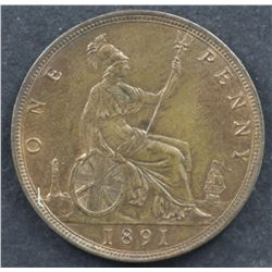 GB Penny 1891 Uncirculated
