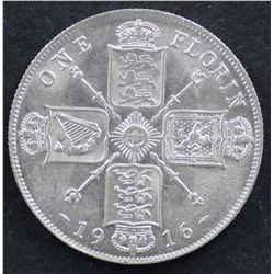 GB Florin 1916 Uncirculated