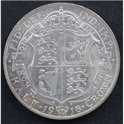 GB ½ Crown 1918 Uncirculated