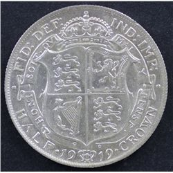 GB ½ Crown 1919 Choice Uncirculated