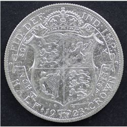 GB ½ Crown 1923, Nearly Uncirculated