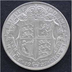 GB ½ Crown 1927, Nearly Uncirculated