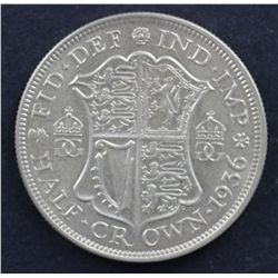 GB ½ Crown  1936 Uncirculated