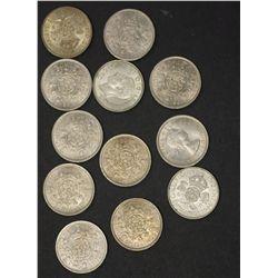 GB Florins 1943,1944,1946 EF 1966BU (3), 1967 (5) BU
