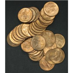 GB 1967 Pennies BU 35 Coins