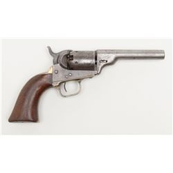Interesting composite Colt percussion pocket  pistol consisting of an early Model 1849 frame,  strap