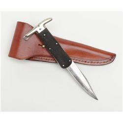 """Large folding blade knife marked """"Mappin & Webb"""",  """"Trustworthy"""", """"Sheffield"""" with modern heavy  lea"""