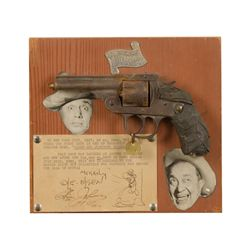 """1938 commemorated Broadway show """"Hellzapoppin""""  with this .38 caliber double action H&R pistol,  mou"""