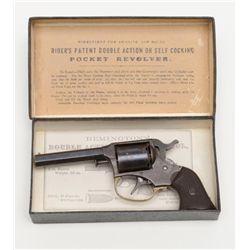 "Remington-Rider DA Pocket Conversion revolver,  .32RF cal., 3"" octagon barrel, blue finish,  checker"