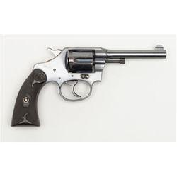 "Colt Police Positive DA revolver, .32 Police cal.,  4"" barrel, blue finish, checkered hard rubber  g"