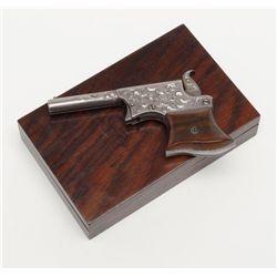"""Remington Vest Pocket Pistol (No. 1 size), modern  engraved, .22 cal., 3-1/4"""" barrel, nickel finish,"""