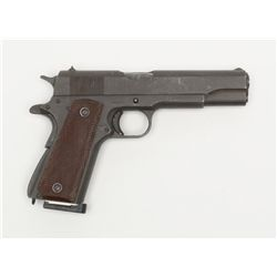 """United States Property marked 1911-A1 semi-auto  pistol by Ithaca Gun Co., .45 cal., 5"""" barrel,  par"""