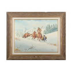 """Framed watercolor by Paul Abram, Jr., Scottsdale,  AZ  entitled """"Bear Facts"""" approx. 27"""" x 32""""  over"""