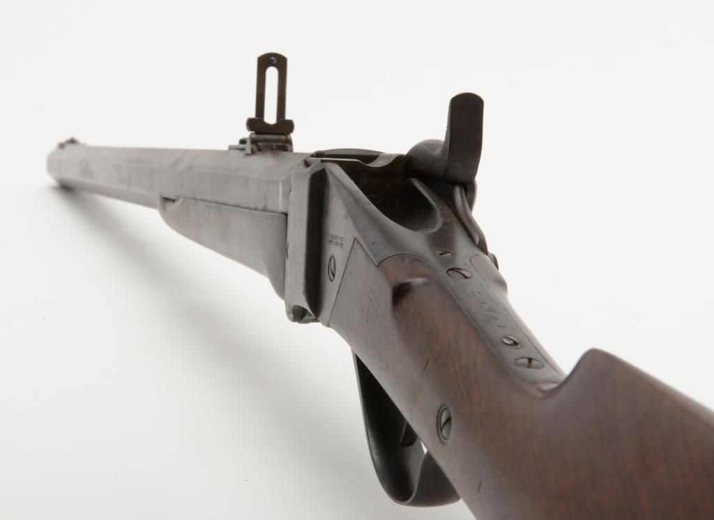 Sharps Model 1874 rifle, serial number C54001 originally invoiced May 6th,  1875 to Capt  John Mix