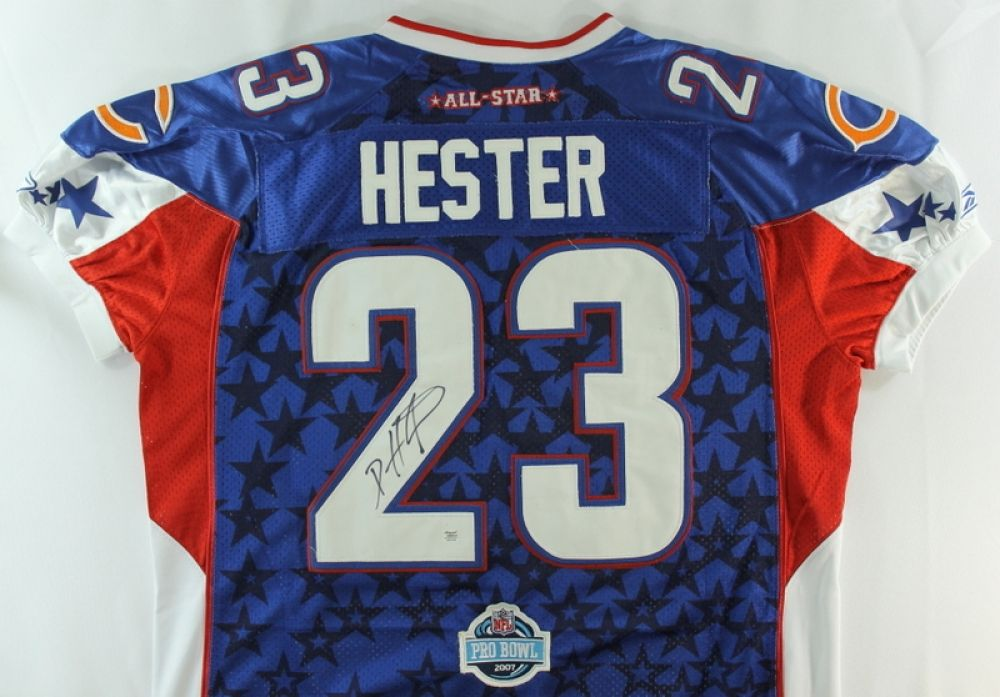 wholesale dealer 79703 cc170 Devin Hester Signed Bears 2007 Pro Bowl Jersey (Autograph ...