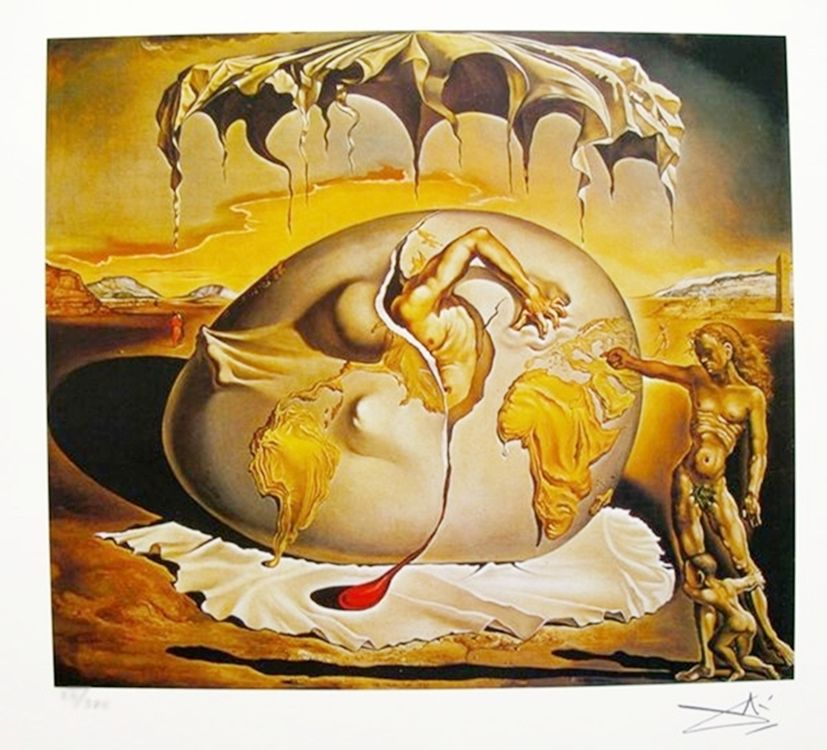 Salvador Dali DISCOVERY OF AMERICA Facsimile Signed /& Numbered Art Giclee