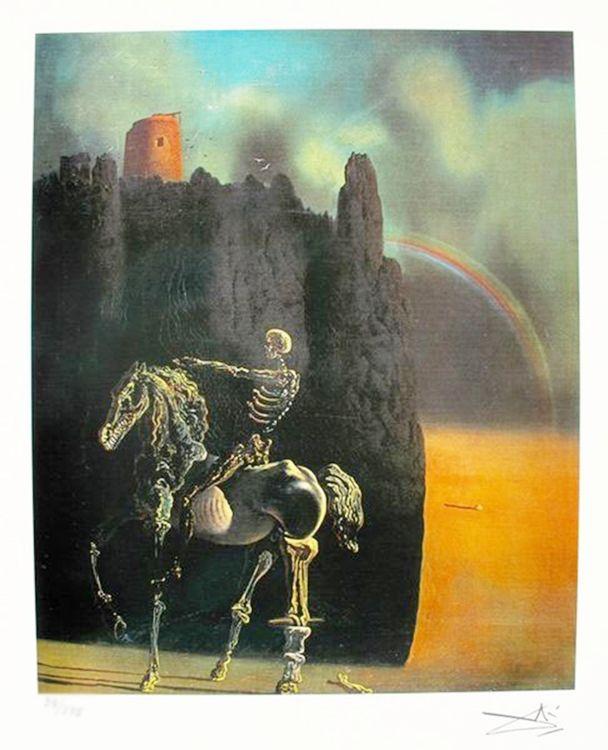 Salvador Dali HORSEMAN OF DEATH Facsimile Signed /& Numbered Giclee Art