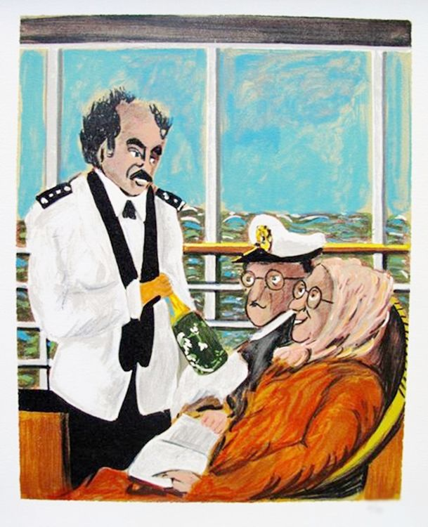 Awesome Guy Buffet Cruise Ship Sommelier Limited Ed Giclee Download Free Architecture Designs Scobabritishbridgeorg