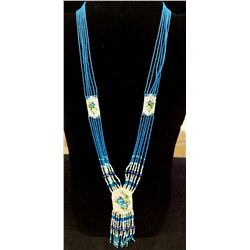 Beaded Cherokee necklace by Buddy Bates