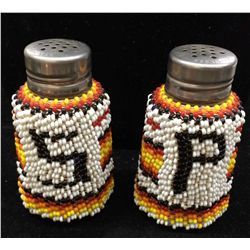 Hand Beaded Salt and Pepper Shakers