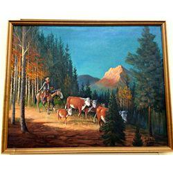 Original Western Oil Painting