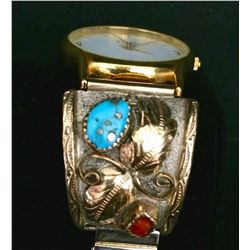 Sterling Silver and Gold Watch