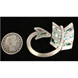 Sterling and Abalone Shell Pin