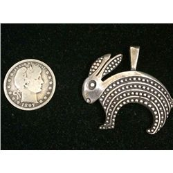 Rabbit Pendant - Sterling