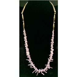 Lavender Branch Coral Necklace