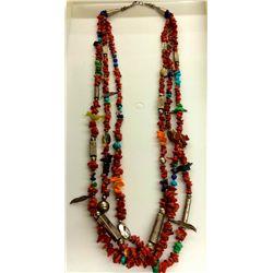 Three-strand Treasure Necklace