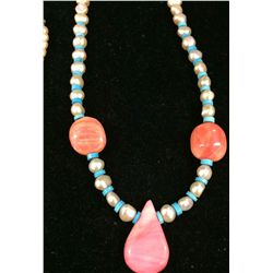Natural Pearl, Turquoise and Shell Set.