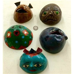 Lot of Mexican Gourd Masks