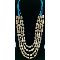 Multi Strand Turquoise/Agate Necklace